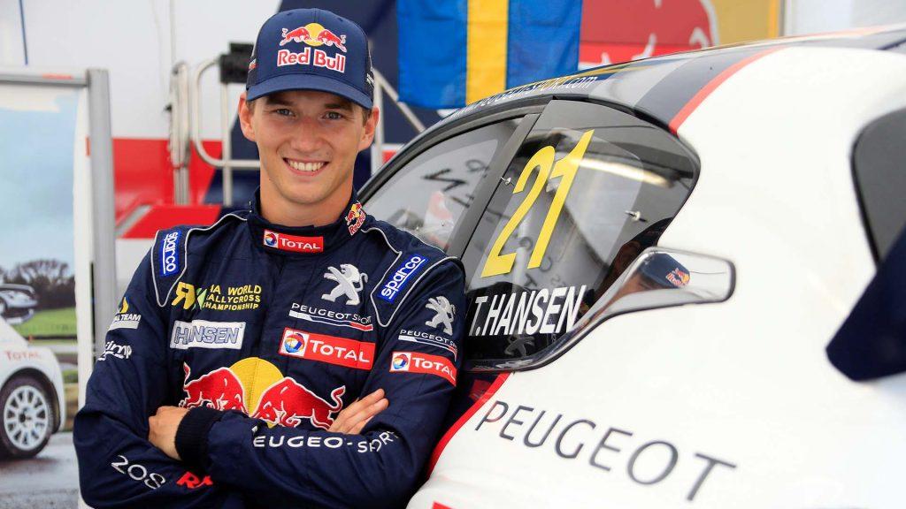 Timmy Hansen på Automessen 2018.