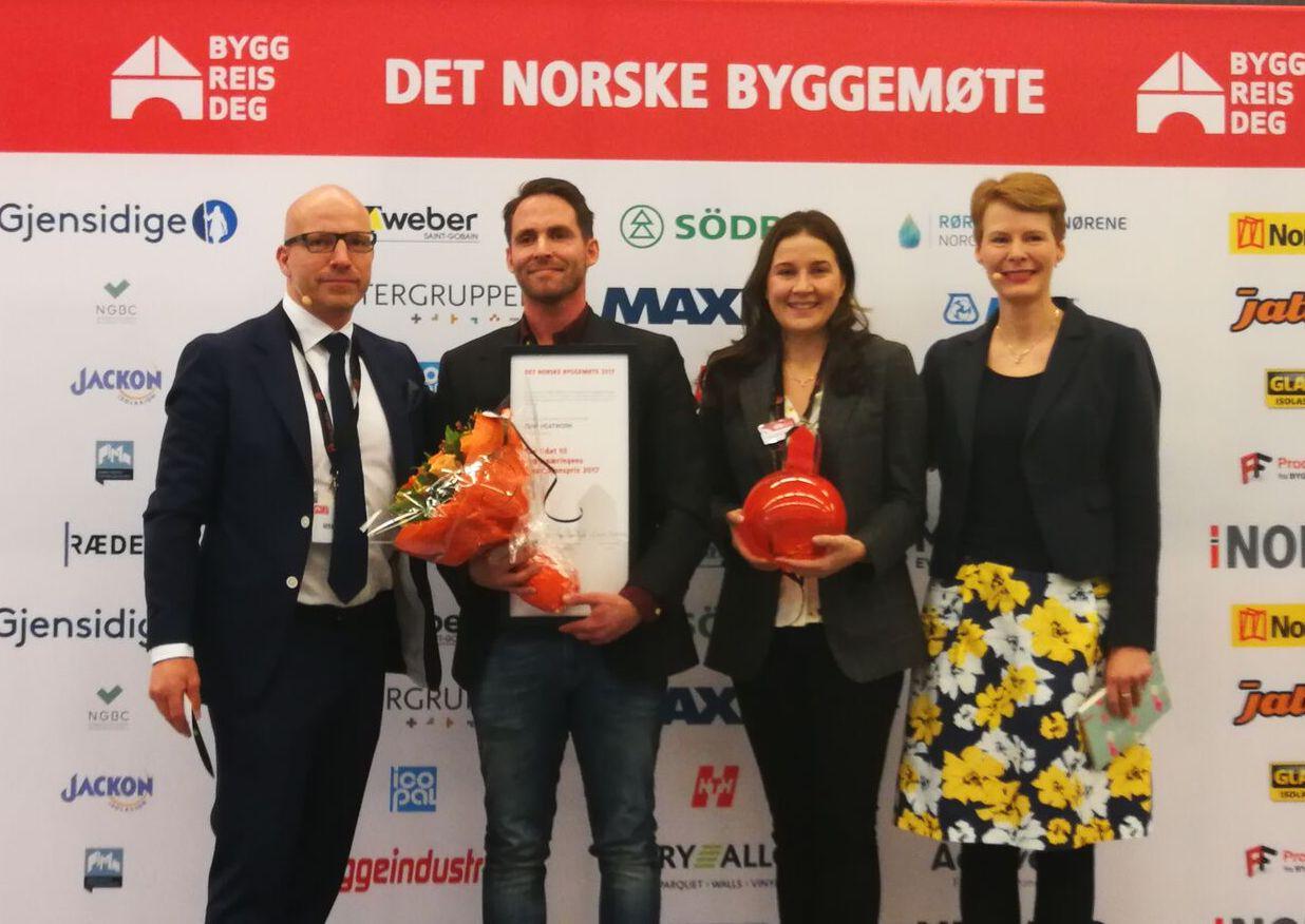 Heatwork sikret seg Byggenæringens Innovasjonspris 2017