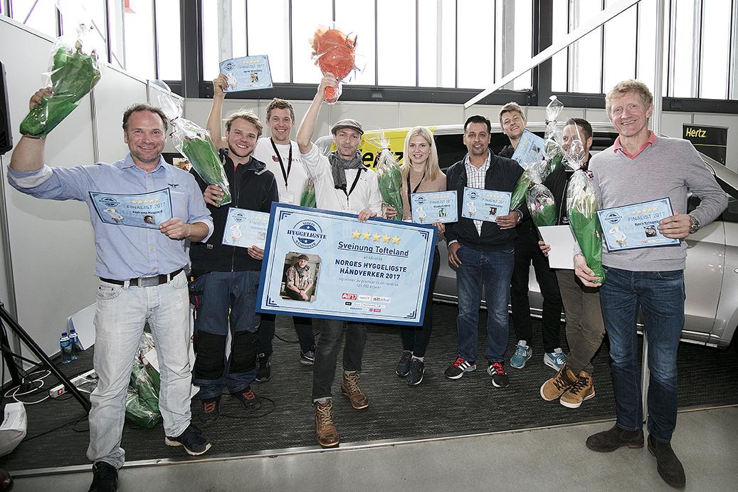 Finalister og vinner av pris Foto Stine Østby
