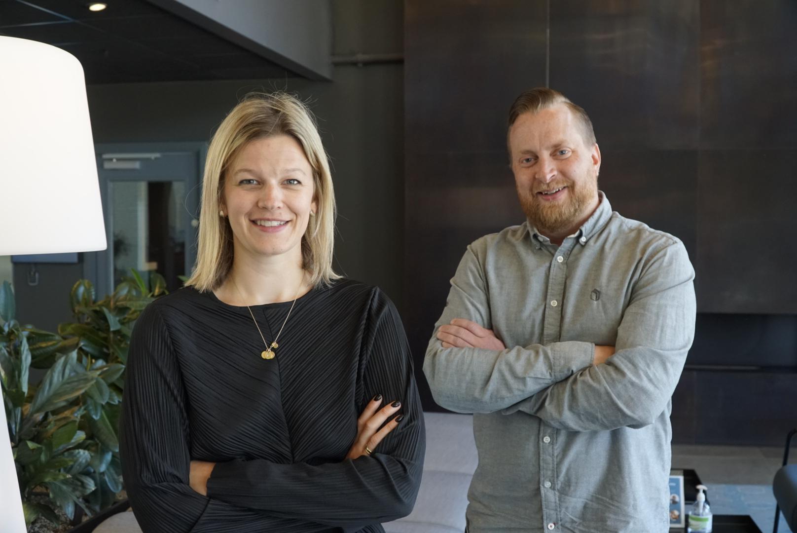 Tewo Flex lanseres for salg: Eivor Vik, Daglig leder og Head of Design i Made og Henning Thorsen gründer i Tewo er fornøyd med at TewoFlex endelig kan bestilles på nett.