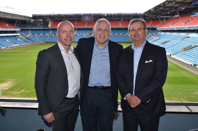 Fra venstre Gunnar Glavin Nybø, Jan Halstensen og Carl Otto Løvenskiold