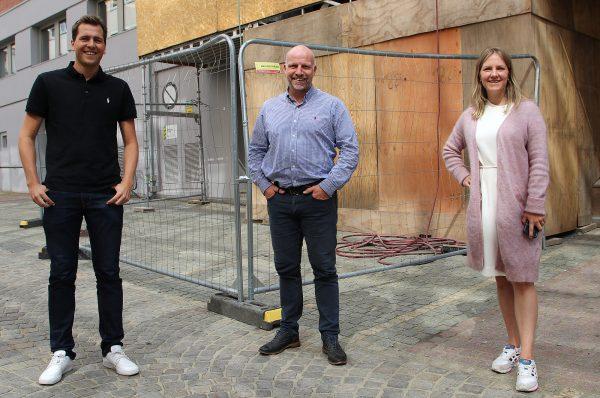 Nye medarbeidere i Bygg Reis Deg ASFra venstre Even Grønboengen, Gunnar Glavin Nybø og Stine Grande.