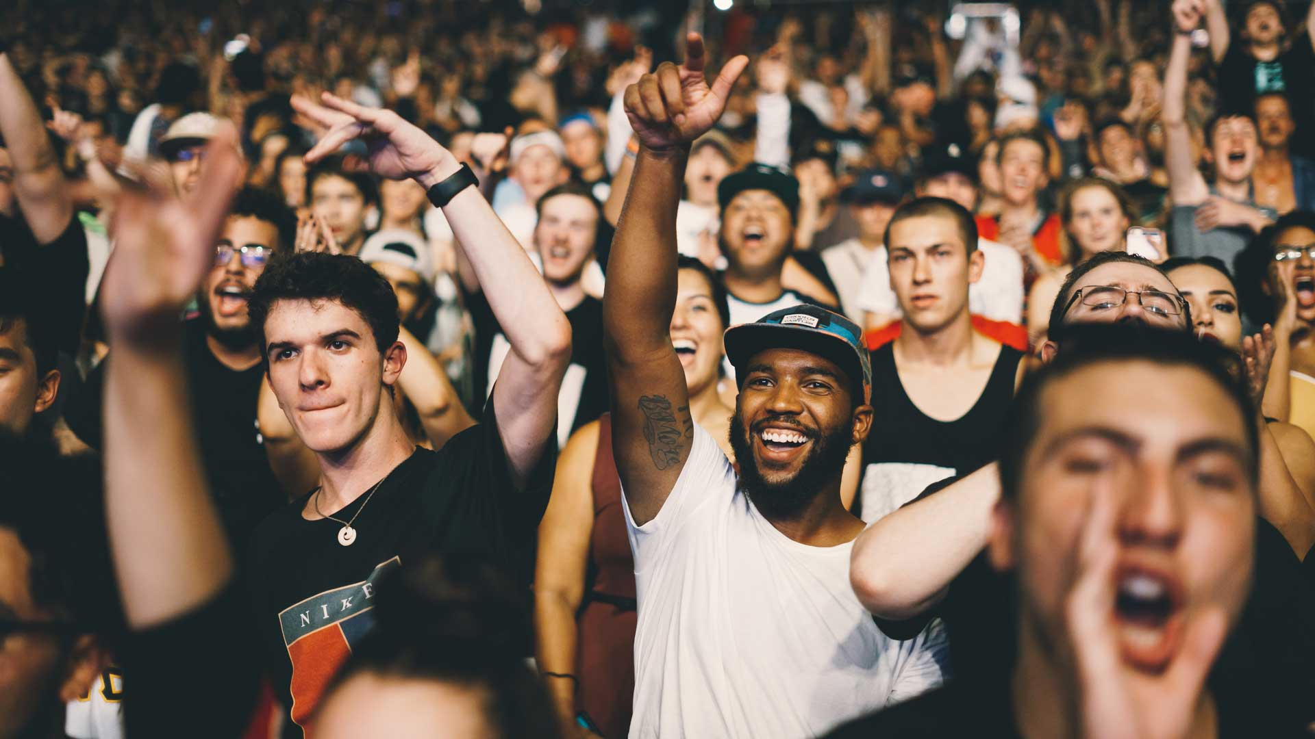 Smilende publikum
